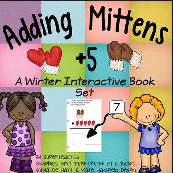 Adding Mittens Count, Add and Learn by 5's WINTER EDITION