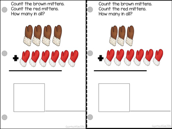 Adding Mittens Count, Add and Learn by 6's WINTER EDITION