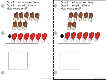 Count and Add Fact Families (Mitten Fact Family 6)