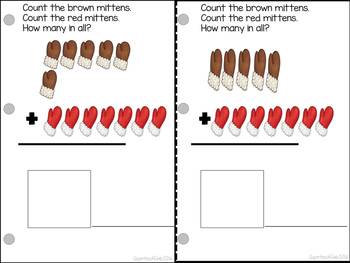 Adding Mittens Count, Add and Learn by 7's WINTER EDITION