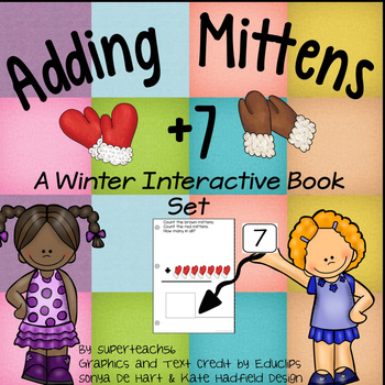 Count and Add Fact Families (Mitten Fact Family 7)