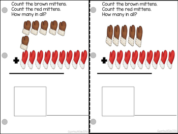 Count and Add Fact Families (Mitten Fact Families 8,9 and 10) BUNDLE