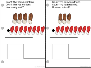Adding Mittens Count, Add and Learn by 8's WINTER EDITION