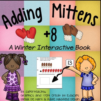Count and Add Fact Families (Mitten Fact Family 8)