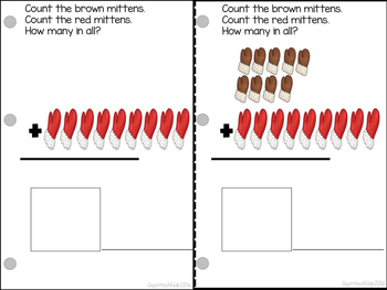 Count and Add Fact Families (Mitten Fact Family 9)