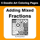 Adding Mixed Fractions - Coloring Pages | Doodle Art Math