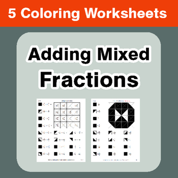 Adding Mixed Fractions - Coloring Worksheets