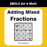 Adding Mixed Fractions - Emoji Art & Math - Draw by Number | Coloring Pages