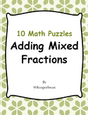 Adding Mixed Fractions Puzzles