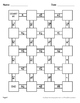 Adding Mixed Fractions Maze