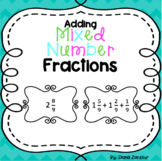 Adding Mixed Number Fraction Cards