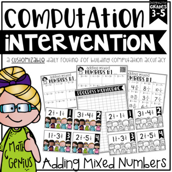 Adding Mixed Numbers {Task Cards, Intervention, and Homework}