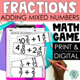 Adding Mixed Numbers - 5th Grade Mixed Numbers Worksheets