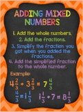 Adding Mixed Numbers Anchor Chart