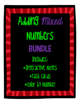 Adding Mixed Numbers BUNDLE