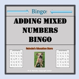 Adding Mixed Numbers Bingo (30 pre-made cards!!!)
