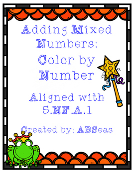 Adding Mixed Numbers Color by Number