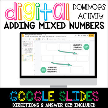 Adding Mixed Numbers Digital Dominoes Activity