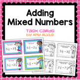 Fraction Task Cards Adding Mixed Numbers