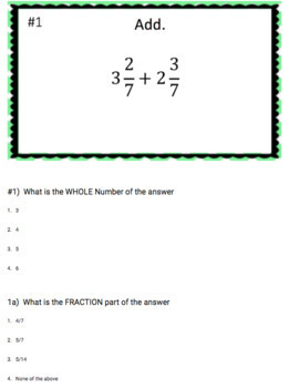 Adding Mixed Numbers - Google Form & Interactive Video Lesson!