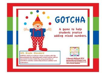 Adding Mixed Numbers - Gotcha Game