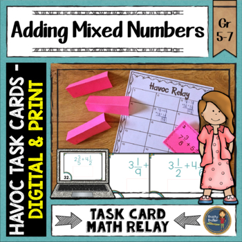 Adding Mixed Numbers Havoc Relay