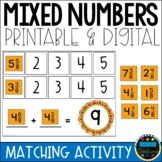Adding Mixed Numbers Mix and Match Activity