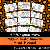 Adding Mixed Numbers Word Problems - Math Scavenger Quest