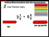 Adding Mixed Numbers using ActiveInspire - 5.NF.A1
