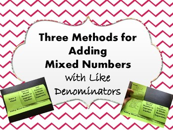 Adding Mixed Numbers with Like Denominators Foldable