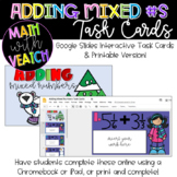 Adding Mixed Numbers with Unlike Denominators Task Cards