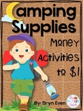 Money Coin Activities Adding to $1-Camping Theme