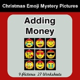 Adding Money - Color-By-Number Christmas Math Mystery Pictures