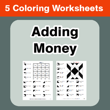 Adding Money - Coloring Worksheets