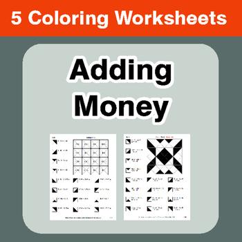 Adding Money - Coloring Worksheets