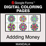 Adding Money - Digital Mandala Coloring Pages | Google Forms