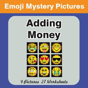 Adding Money EMOJI Math Mystery Pictures