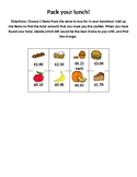 Adding Money Lunchbox Activity