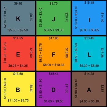 Adding Money - Puzzles with GOOGLE Slides