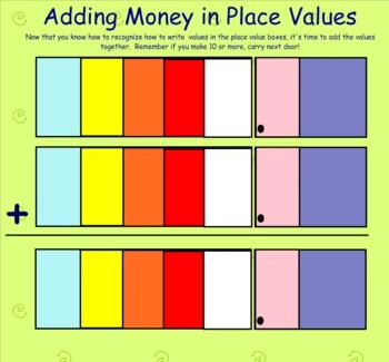 Adding Money Smart Notebook file
