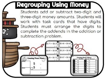 Adding Money Task Cards & Subtracting Money