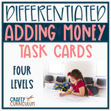 Adding Money Task Cards Four Different Levels!