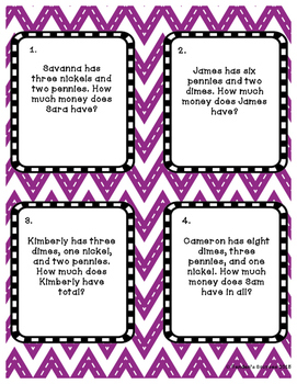 Adding Money Task Cards Two levels