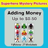 Adding Money Up to $0.50 - Color-By-Number Math Mystery Pictures
