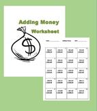 Adding Money Worksheet