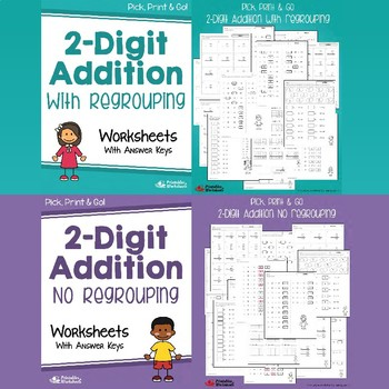 Multi Digit Addition Worksheets, Adding Math Center Sheets For Practice