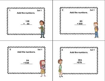 Adding Multi-Digit Numbers CCSS 4.NBT.B.4 -Task Cards-Grade 4