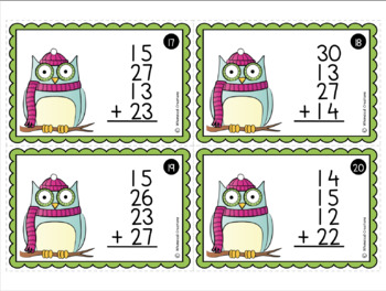 Adding Multiple 2-Digit Numbers Task Cards