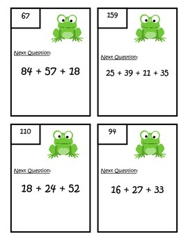 Adding Multiple Two Digit Numbers - Second Grade Common Core 2.NBT.B.6
