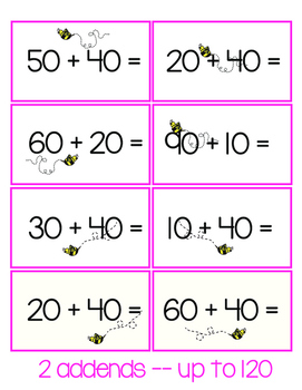 Adding Multiples of 10:  2 and 3 Digits!